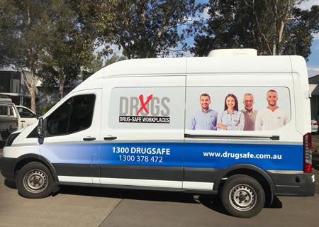 onsite drug and alcohol testing van in Perth